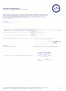 Certyfikat ubezpieczenia kabotażowego na Niemcy